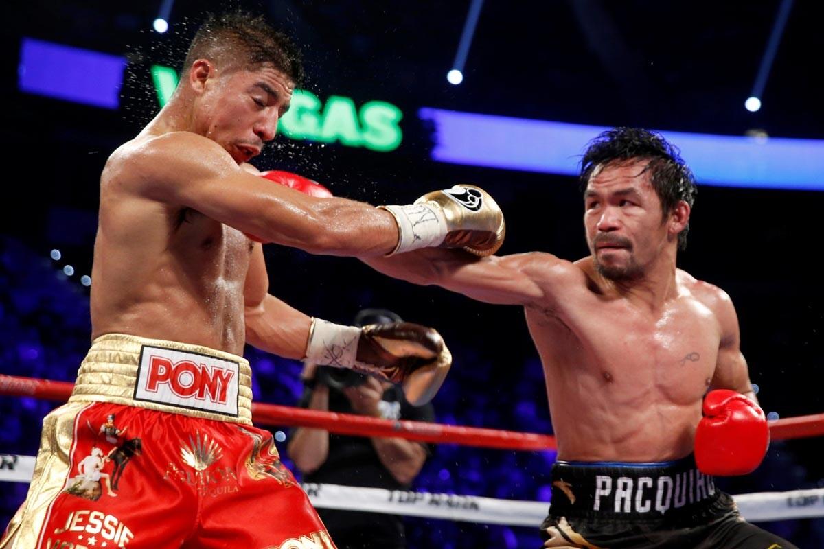 Manny Pacquiao y Jessie Vargas