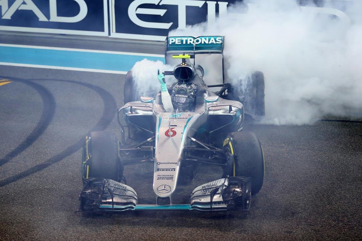 Nico Rosberg, donuts de campeón