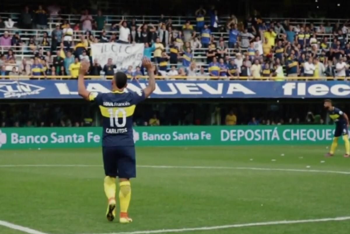 Carlos Tevez, con Boca