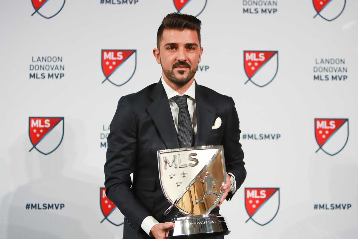 David Villa jugando con el New York City