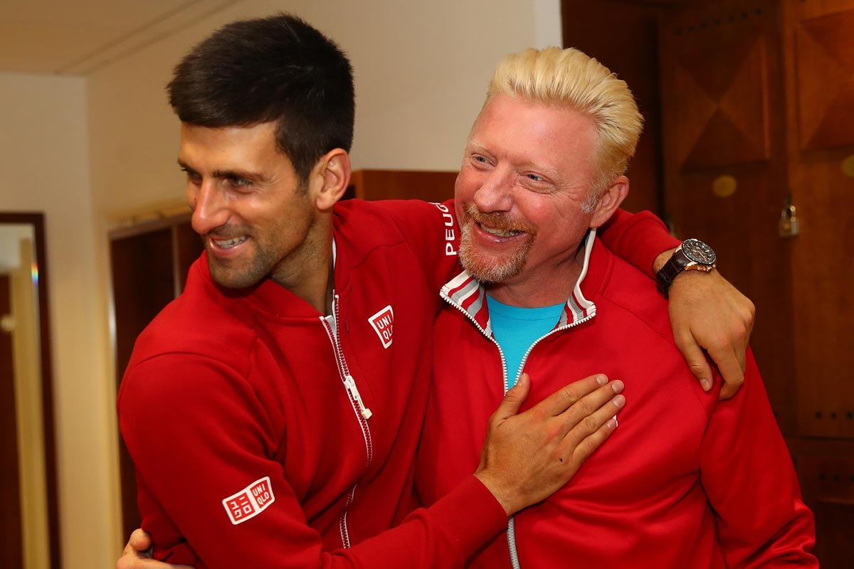 Novak Djokovic y Boris Becker