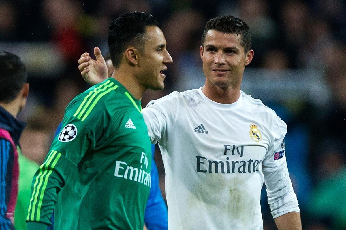 Keylor Navas y Cristiano Ronaldo