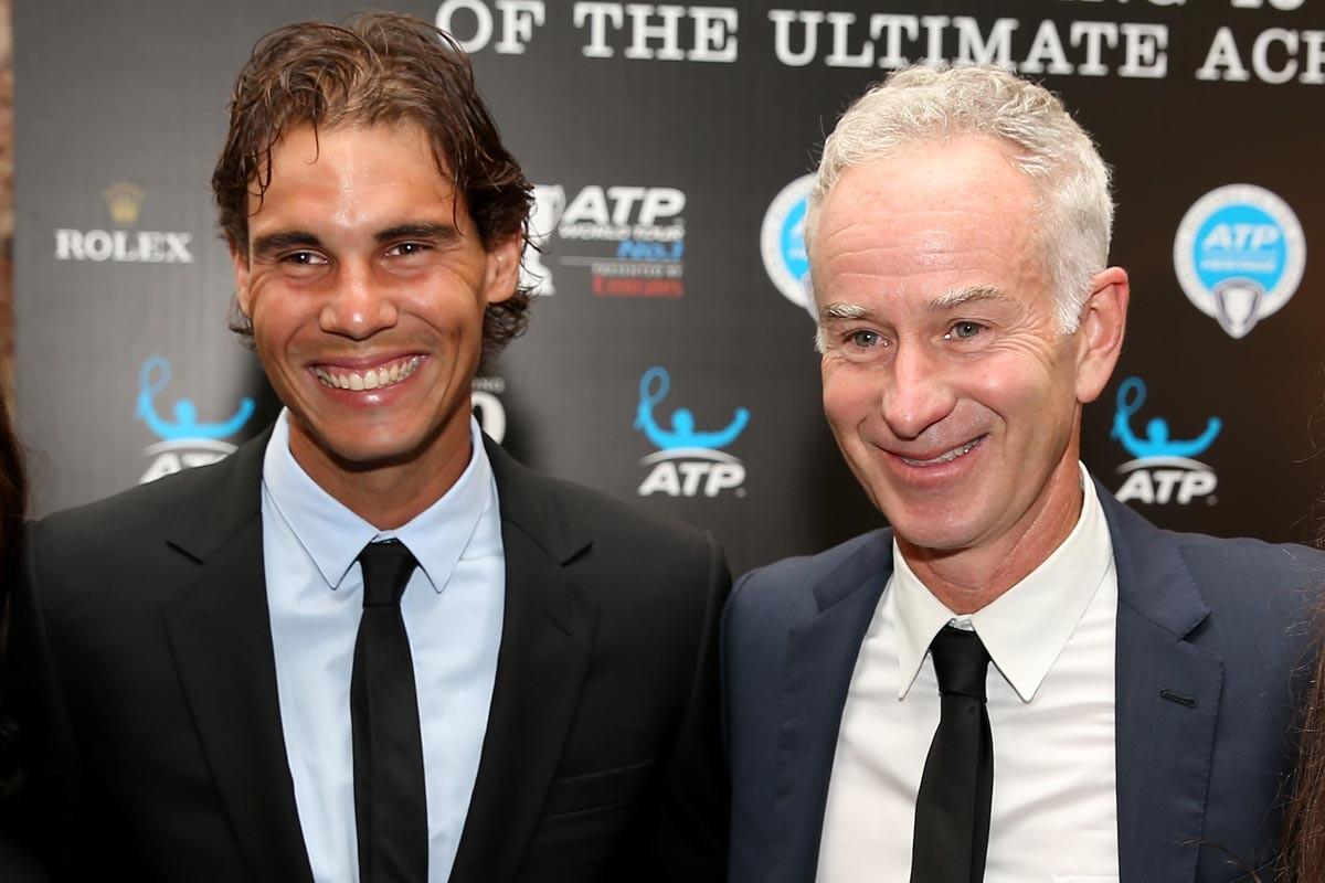 John McEnroe y Rafa Nadal