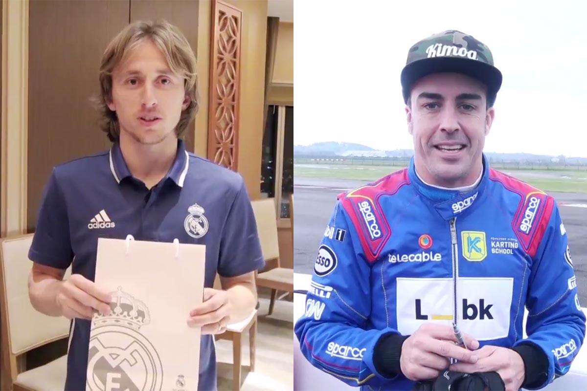 Luka Modric y Fernando Alonso