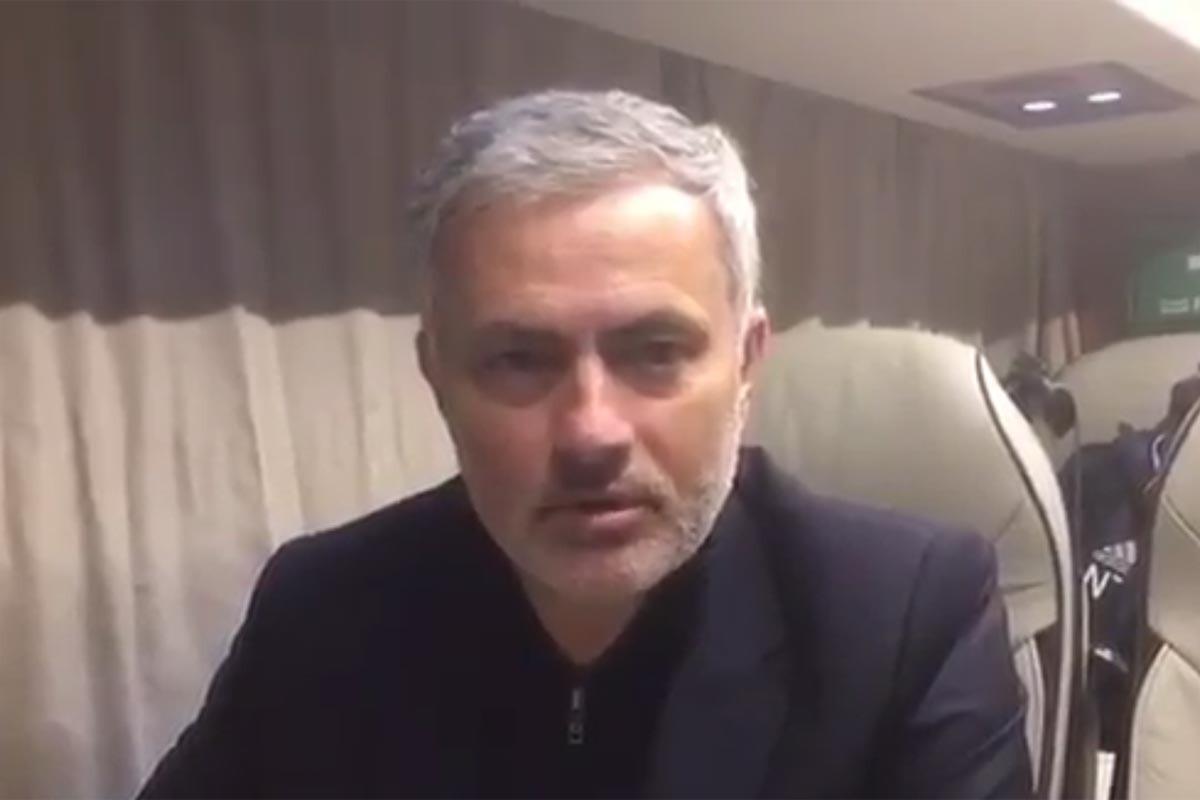 Jose Mourinho, entrenador del United