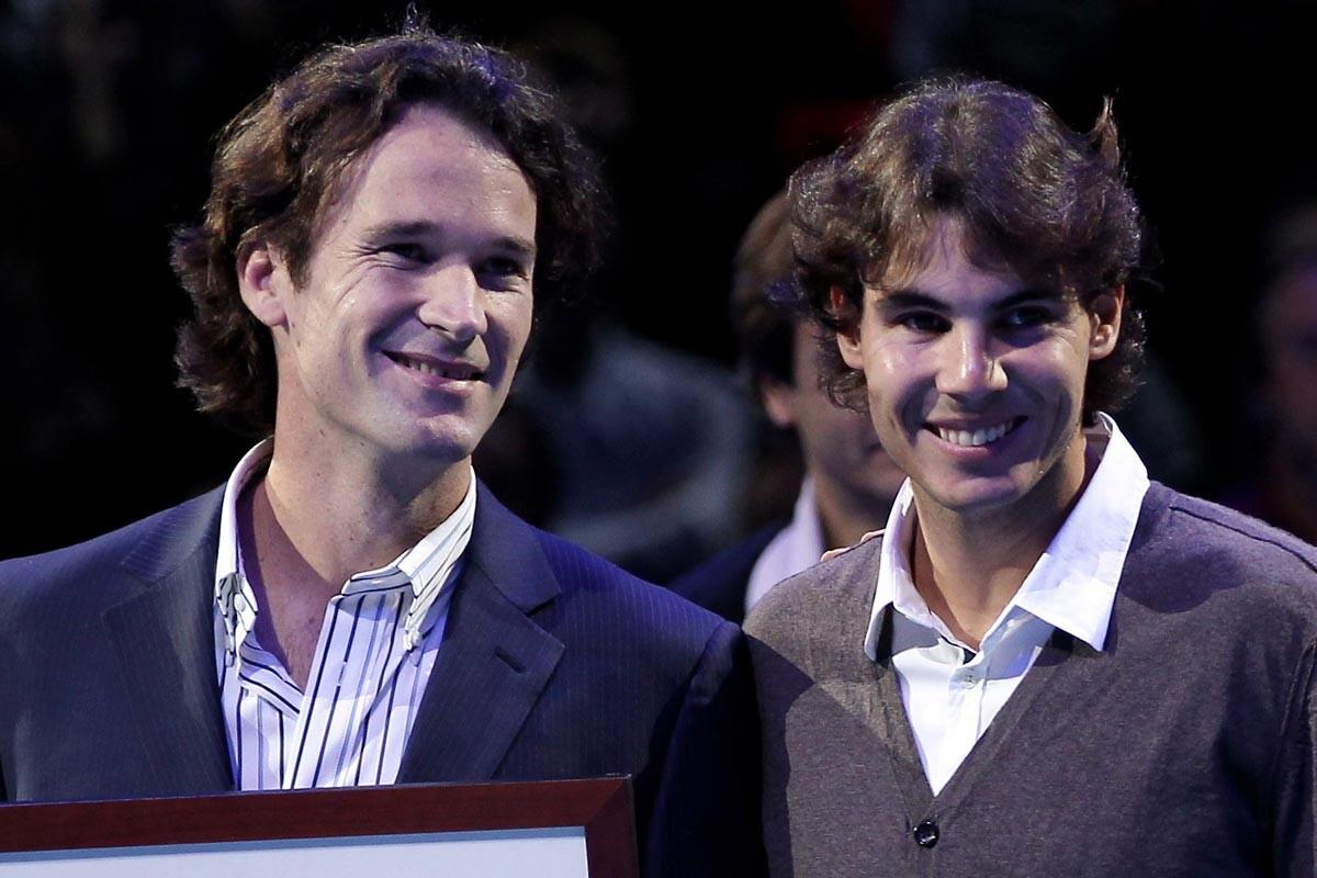 Carlos Moyá y Rafa Nadal