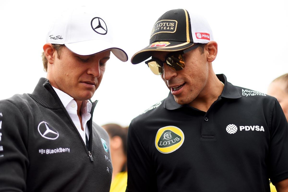 Nico Rosberg y Pastor Maldonado
