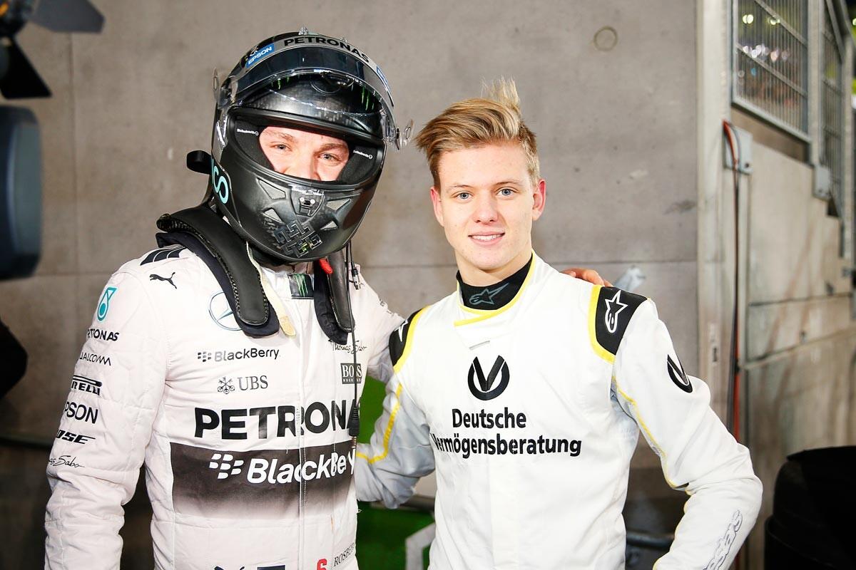 Rosberg y Mick Schumacher