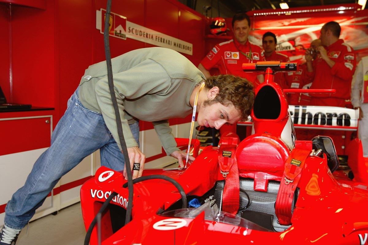 Valentino Rossi y Ferrari