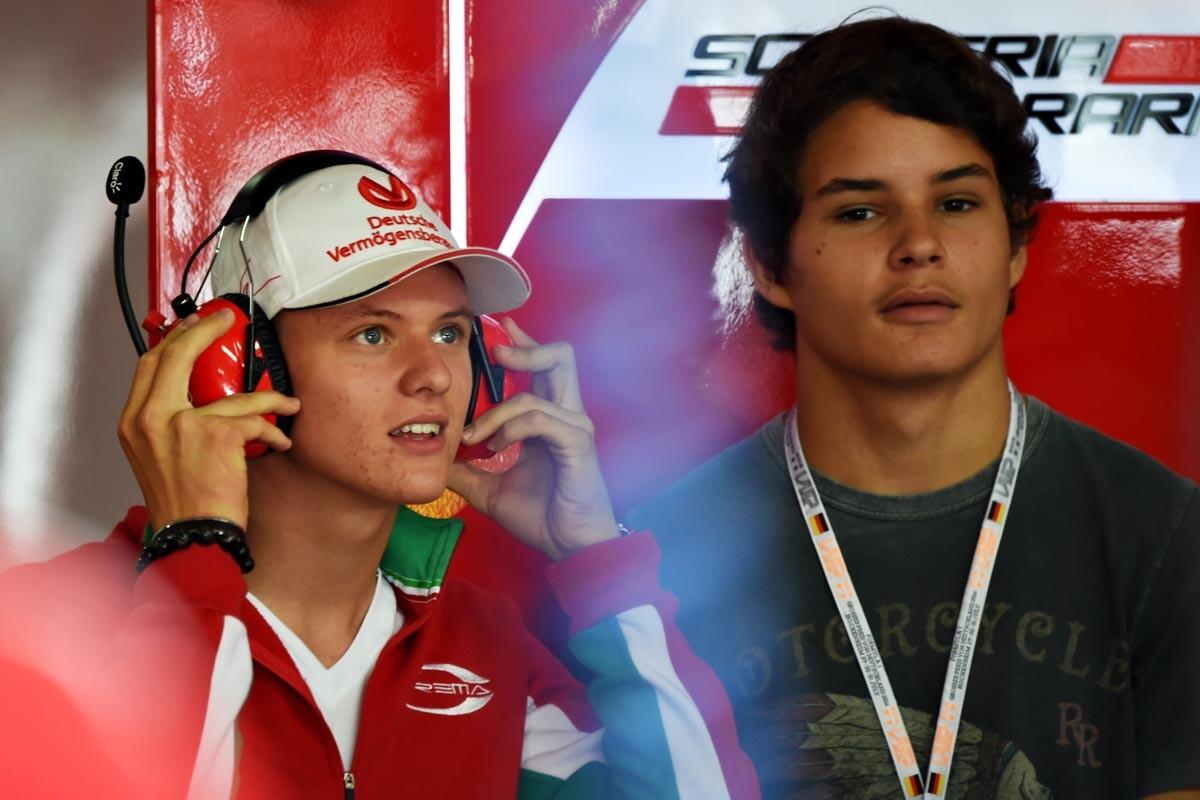 Mick Schumacher y Pedro Piquet