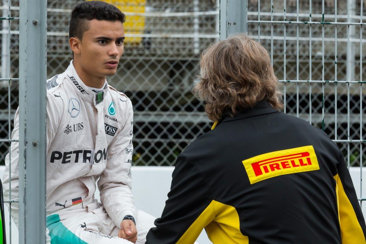 Pascal Wehrlein, con Mercedes en los test