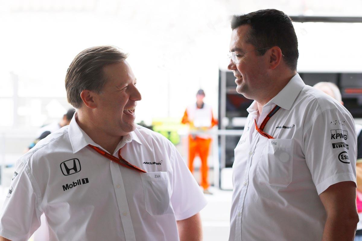 Zak Brown y Eric Boullier, de McLaren