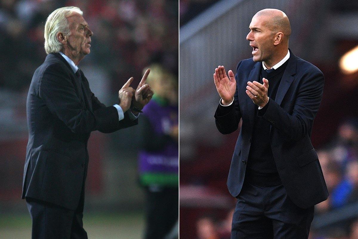 Resultado de imagen de Zidane y Leo Beenhakker