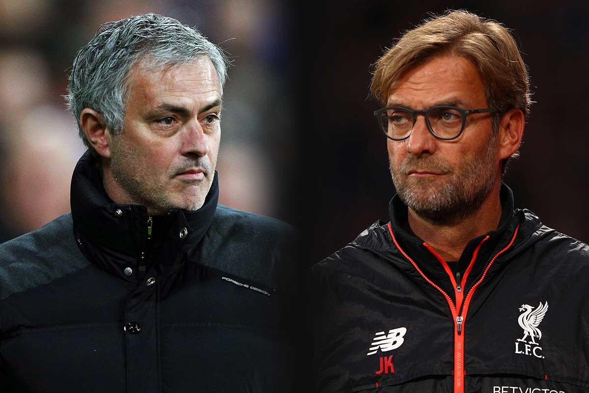 Jose Mourinho y Jurgen Klopp, Manchester United y Liverpool