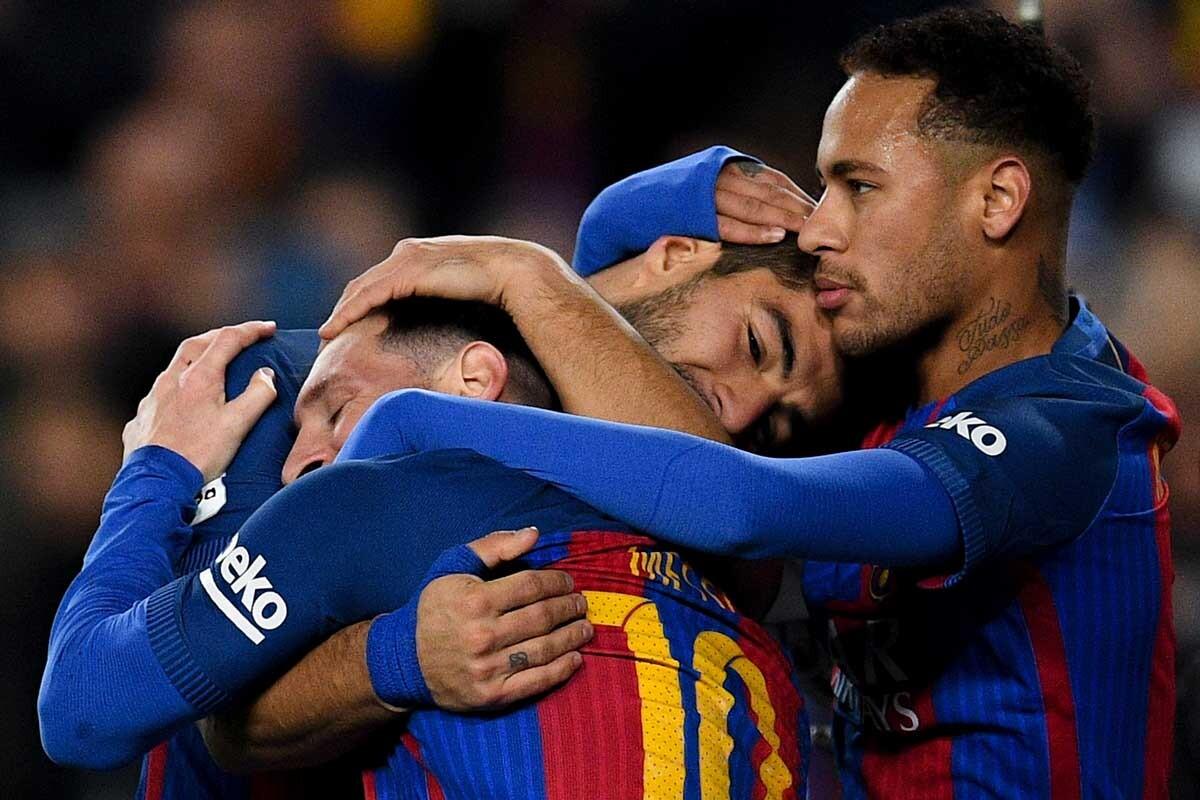 Messi, Neymar, Suárez