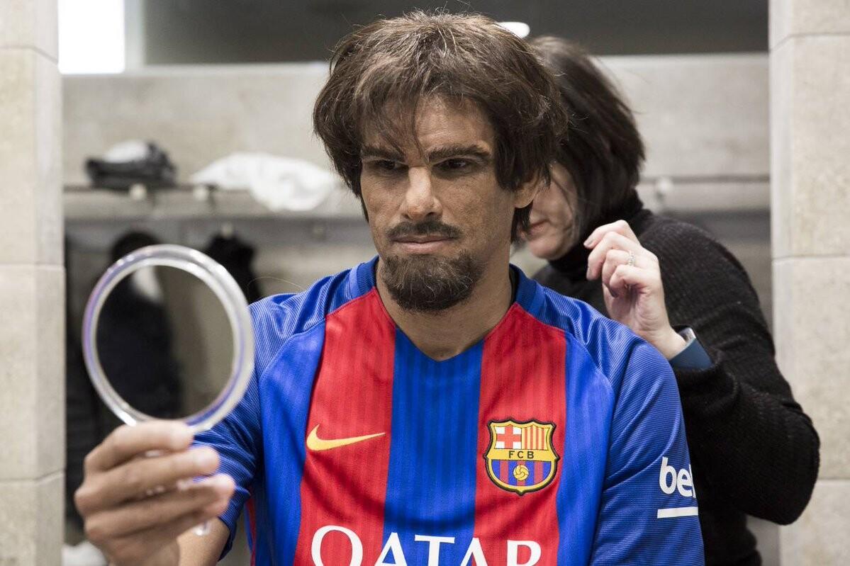 El ex futbolista brasilero, Rivaldo, maquillado