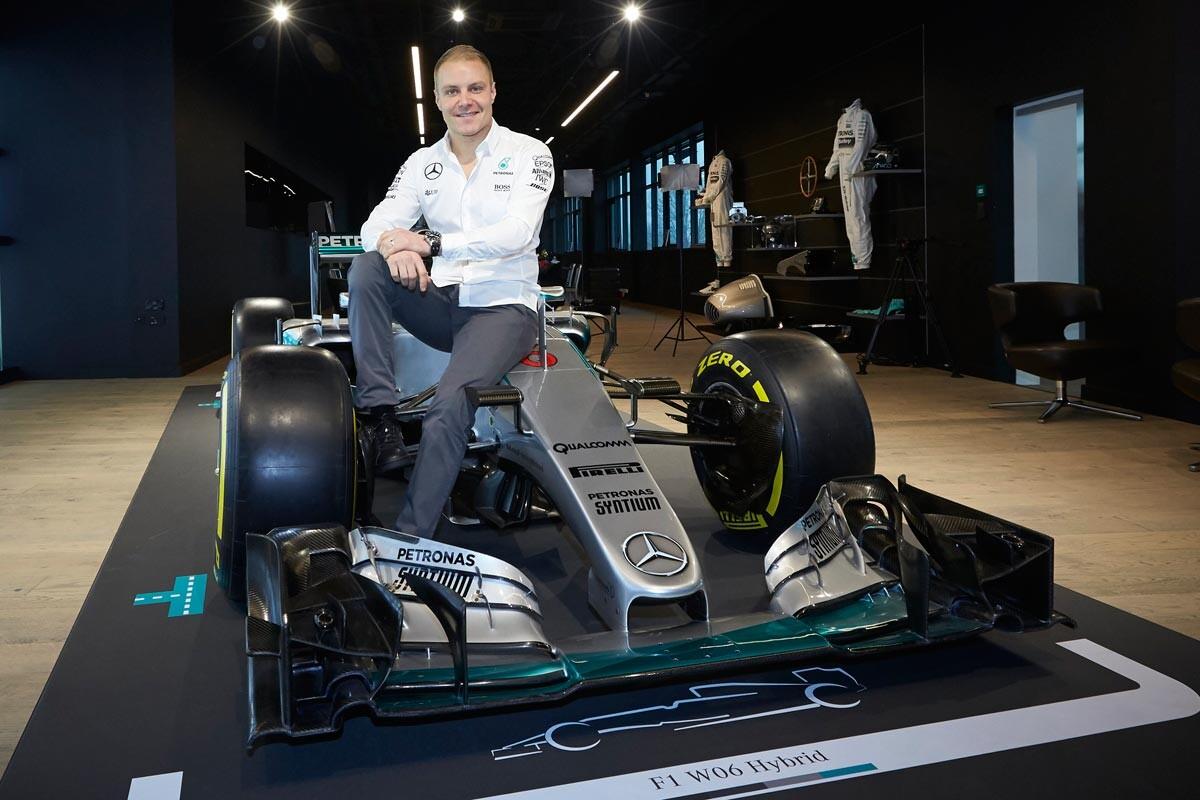 Valtteri Bottas, en su presentación con Mercedes