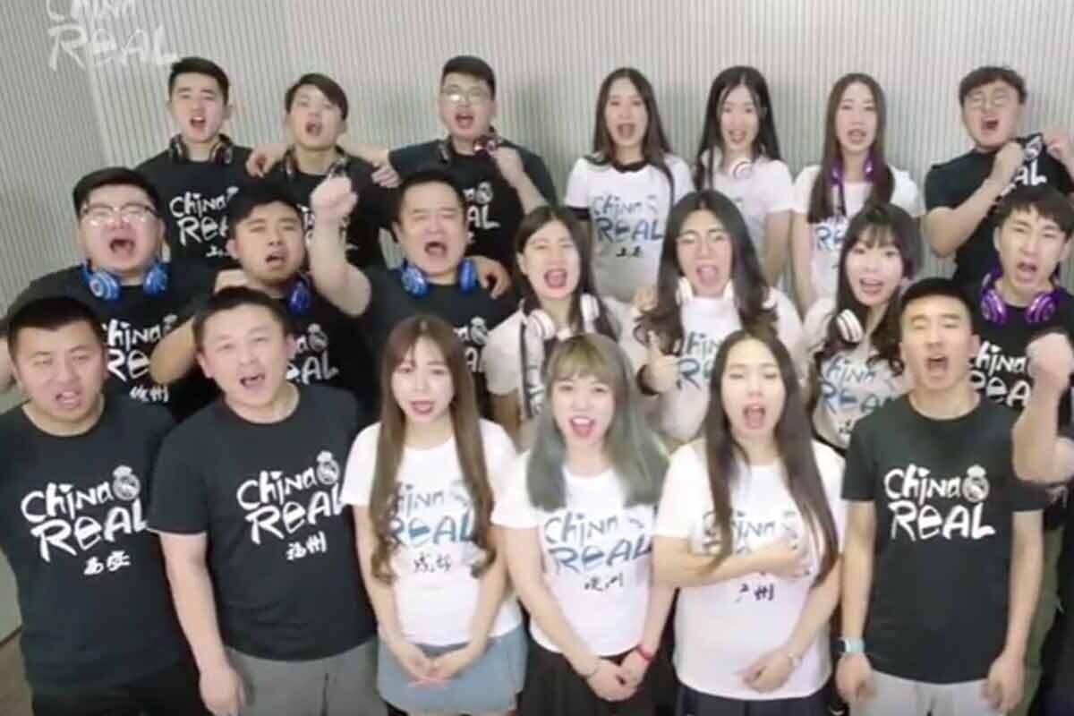 Así es el himno de la Décima del Madrid en chino