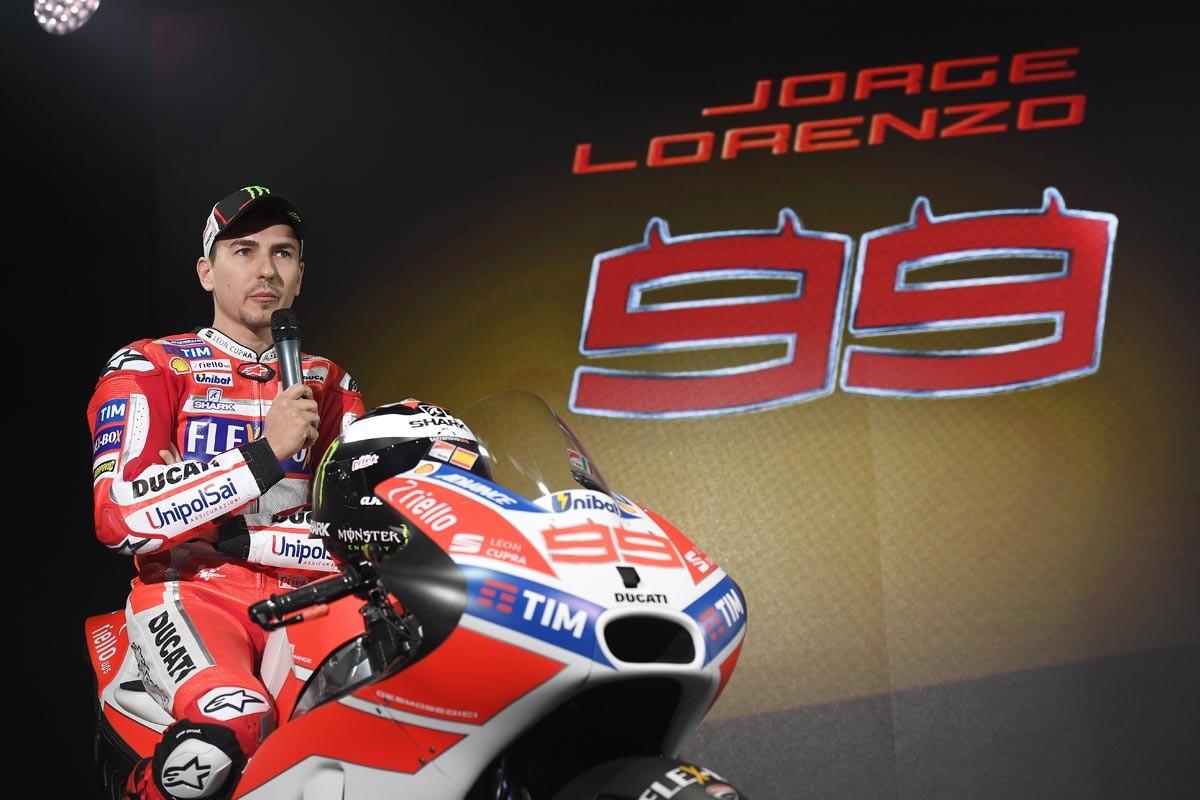Jorge Lorenzo en su presentación con Ducati