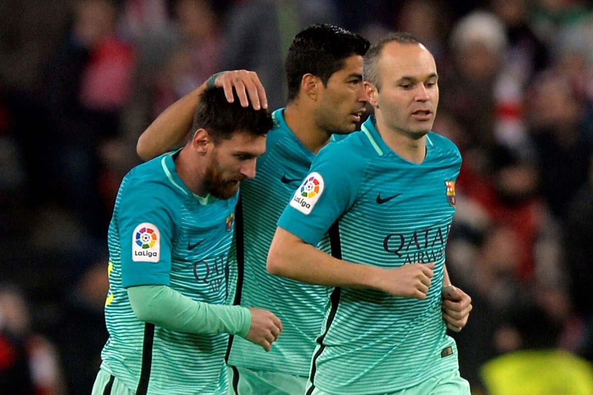 Messi, SUárez e Iniesta