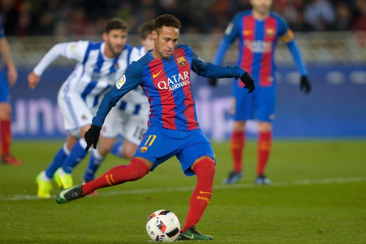 Neymar, en el Real Sociedad-Barcelona