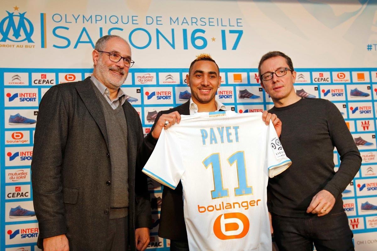 Payet, presentado con el Marsella