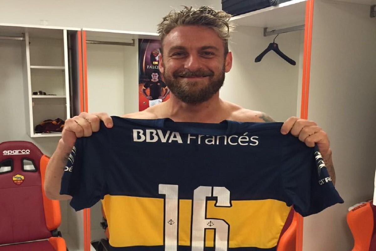 De Rossi con la camiseta de Boca Juniors