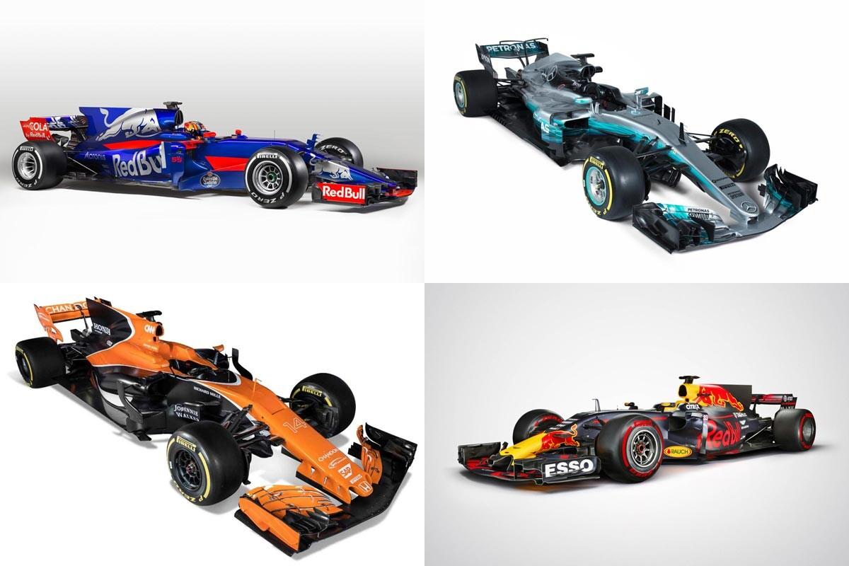 Los 10 nuevos coches de Fórmula 1 de 2017