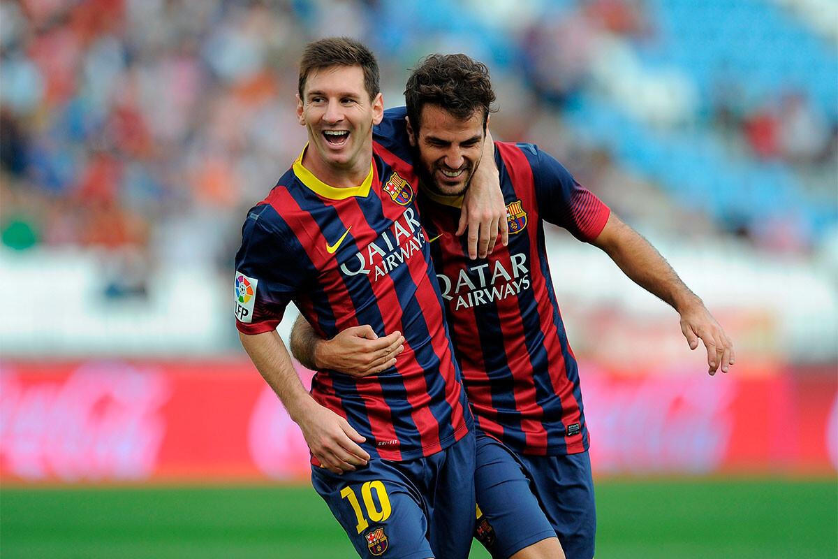 Cesc Fábregas, Leo Messi