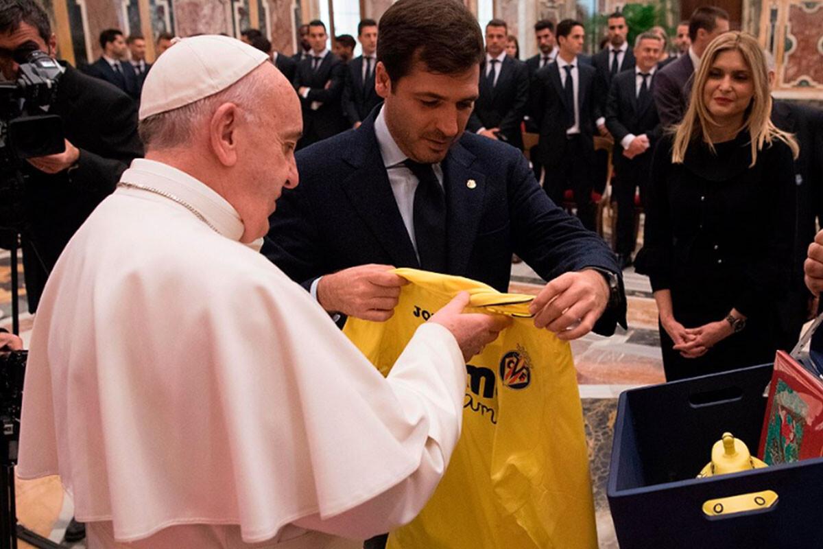 Las emotivas palabras del Papa al Villarreal