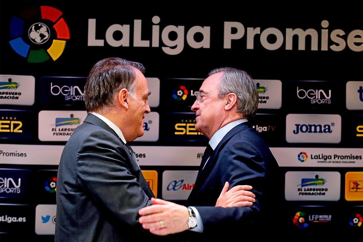 Javier Tebas, Florentino Pérez
