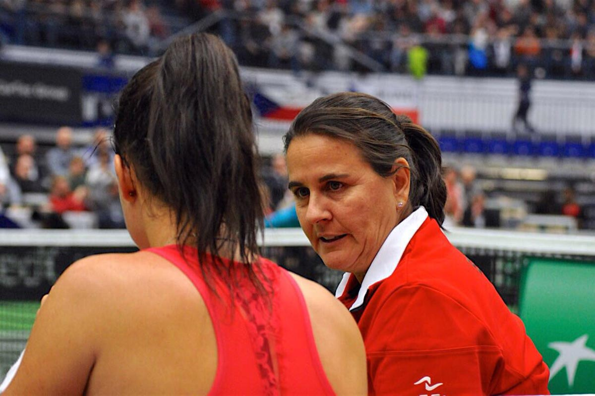Conchita Martínez y Lara Arruabarrena