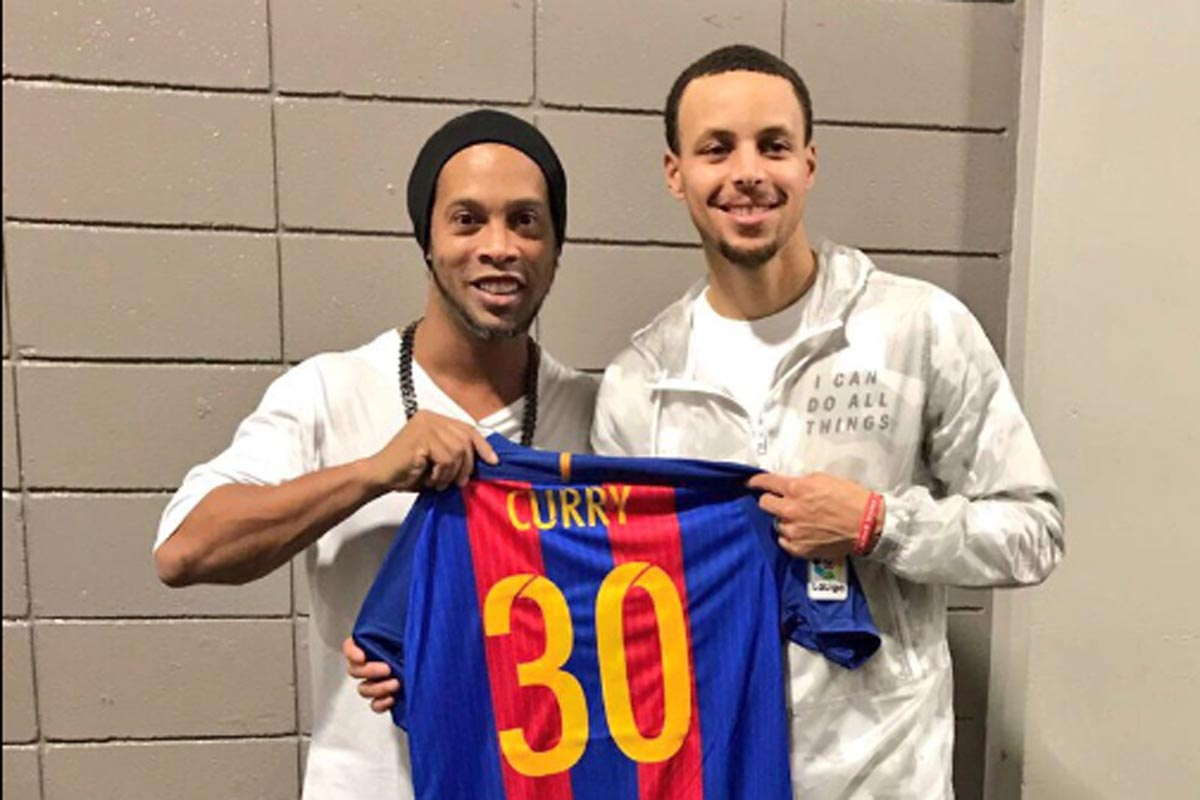 Ronaldinho y Curry