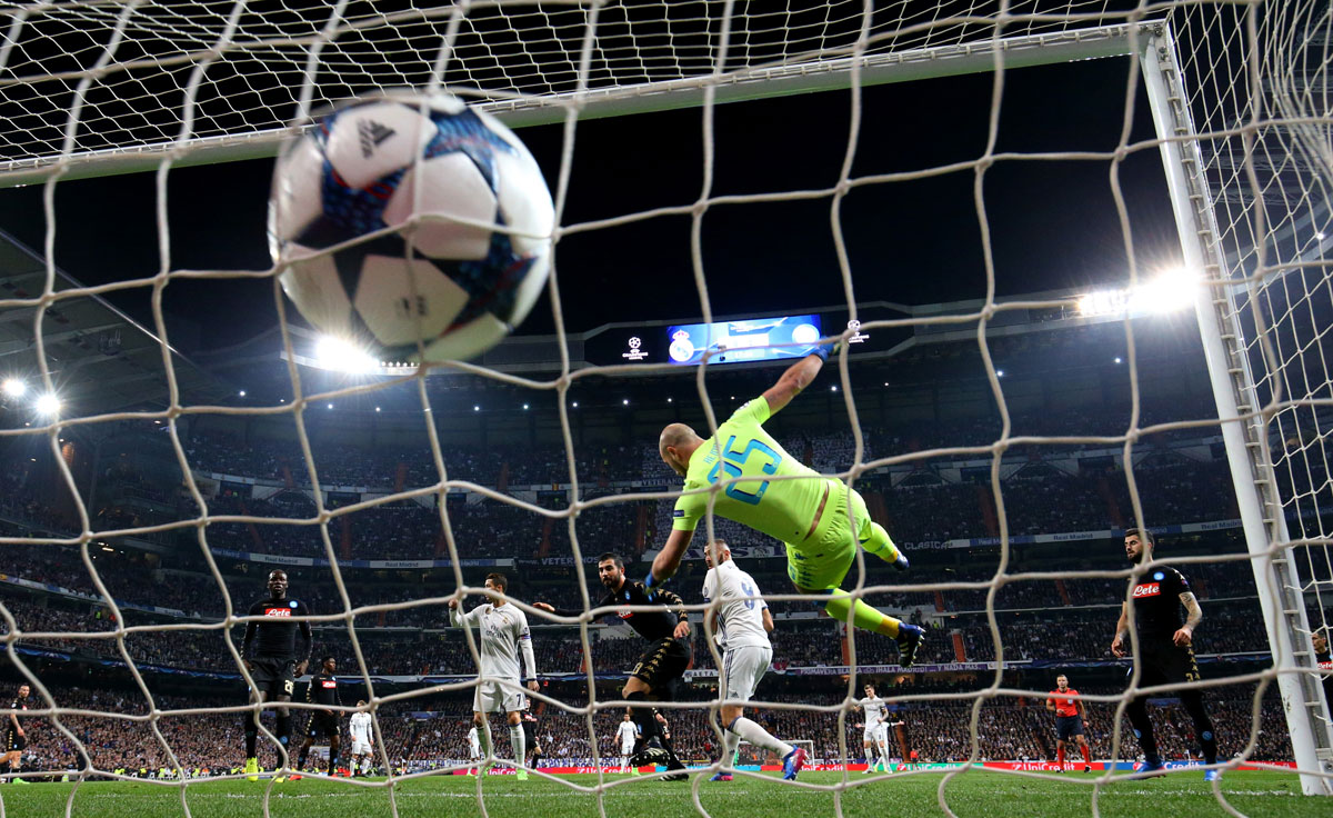 El Real Madrid – Nápoles, en imágenes