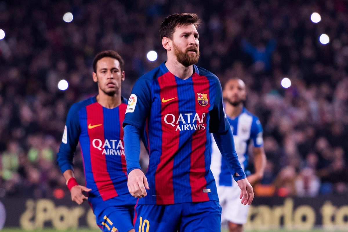 Messi ante el Leganés