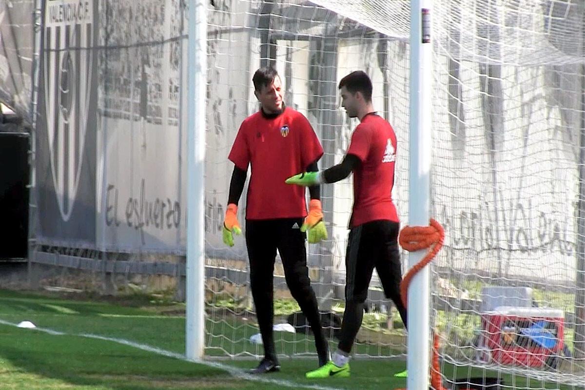 Diego Alves y Antonio Sivera Valencia CF