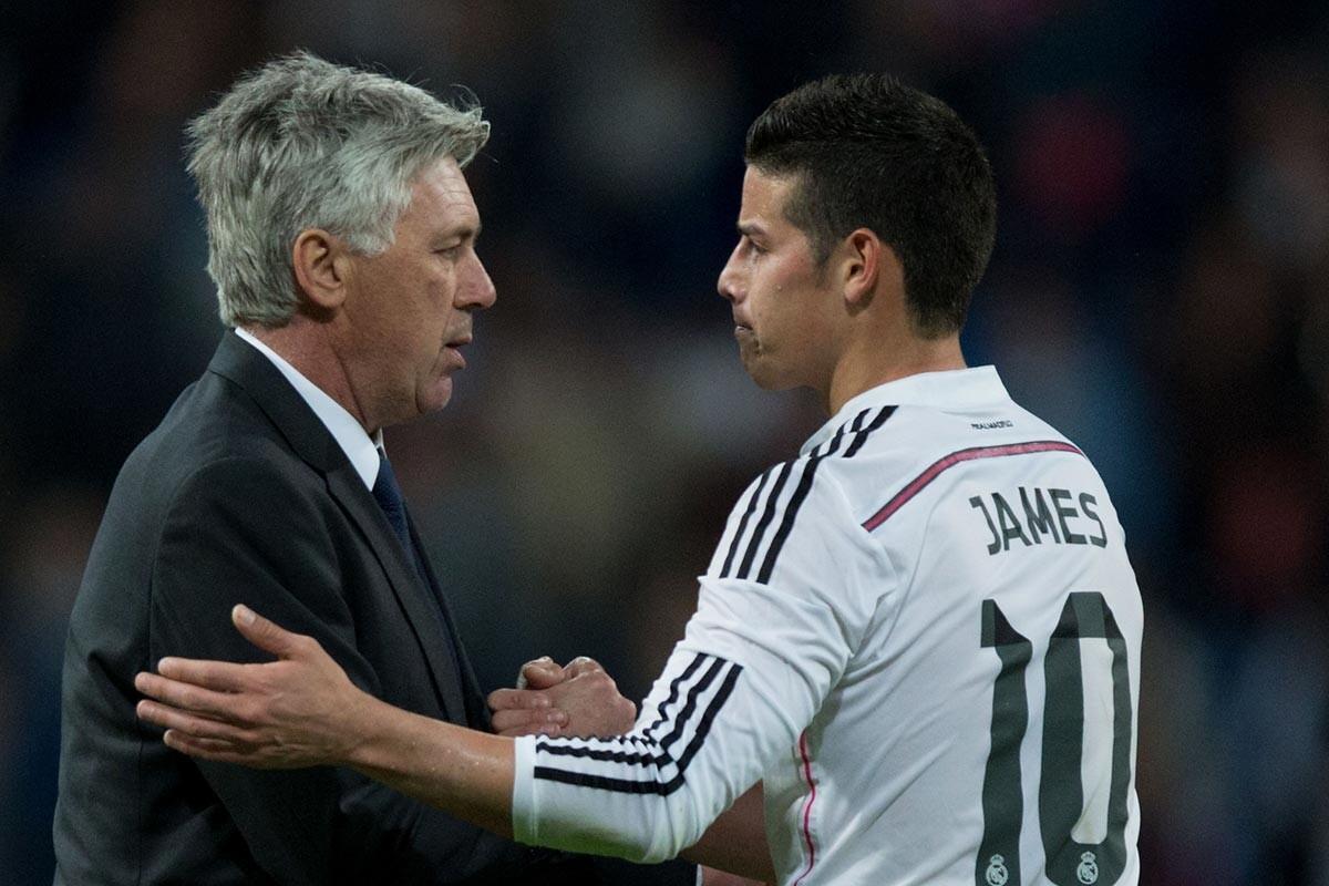 Ancelotti y James Rodríguez