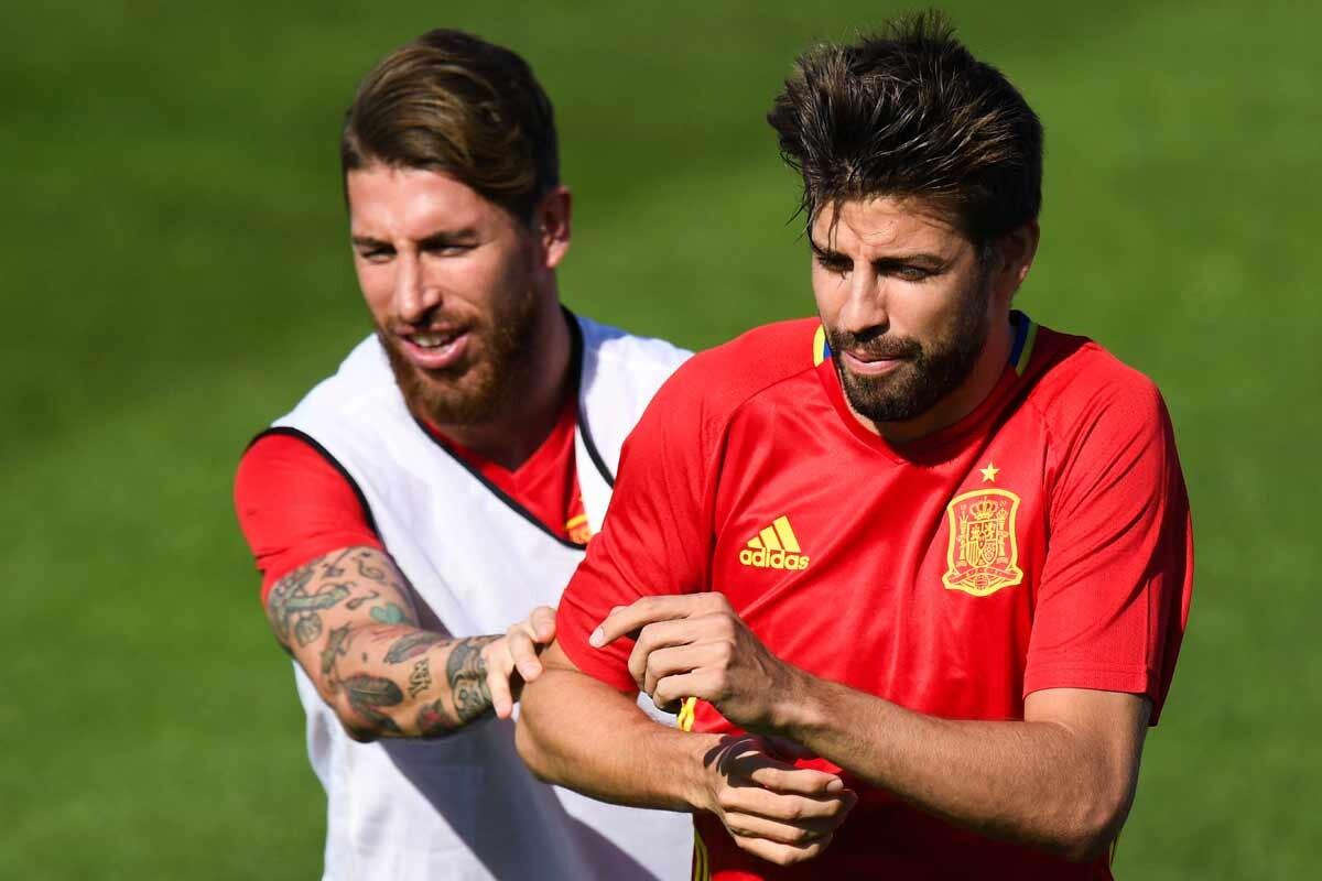 Sergio Ramos y Piqué
