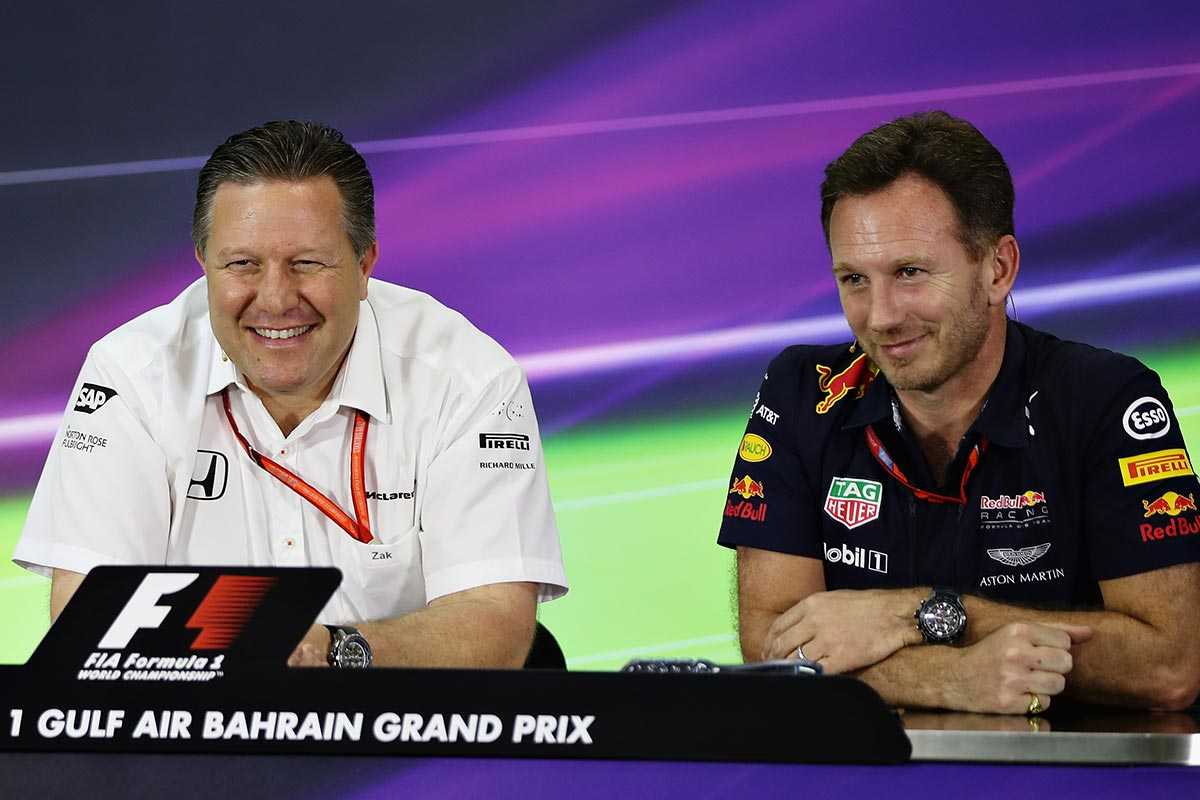 Christian Horner y Zak Brown
