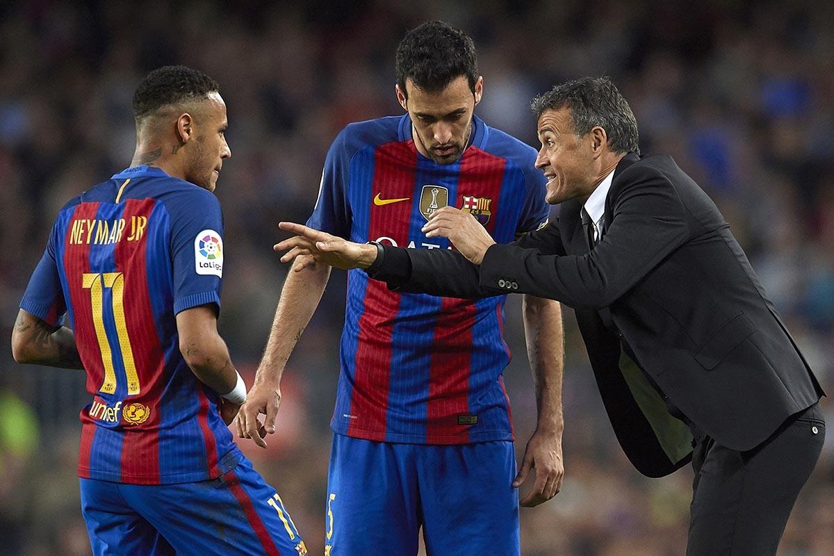 Luis Enrique y Neymar