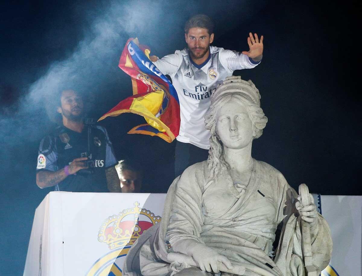 La coronación del Madrid en la Cibeles