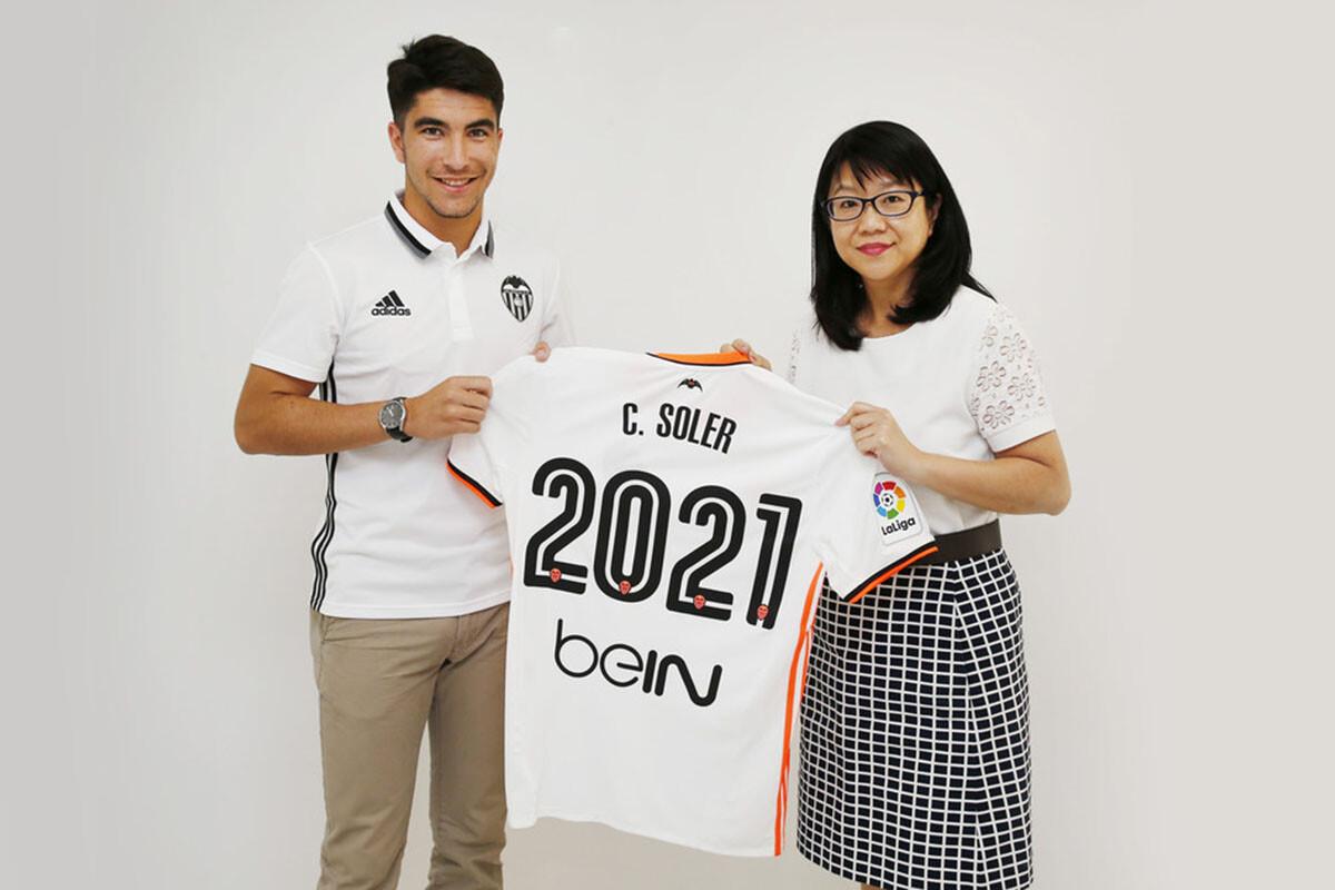Carlos Soler y LayHoon Chan Valencia CF