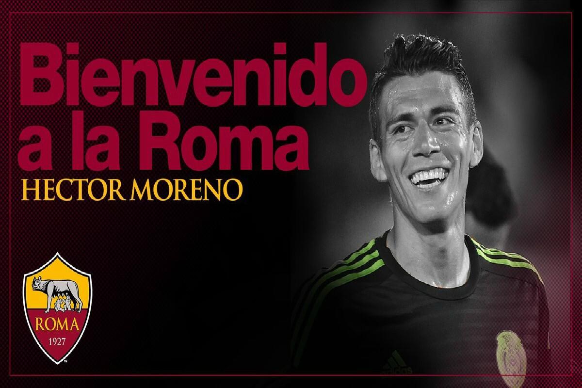 Héctor Moreno llega a la Roma