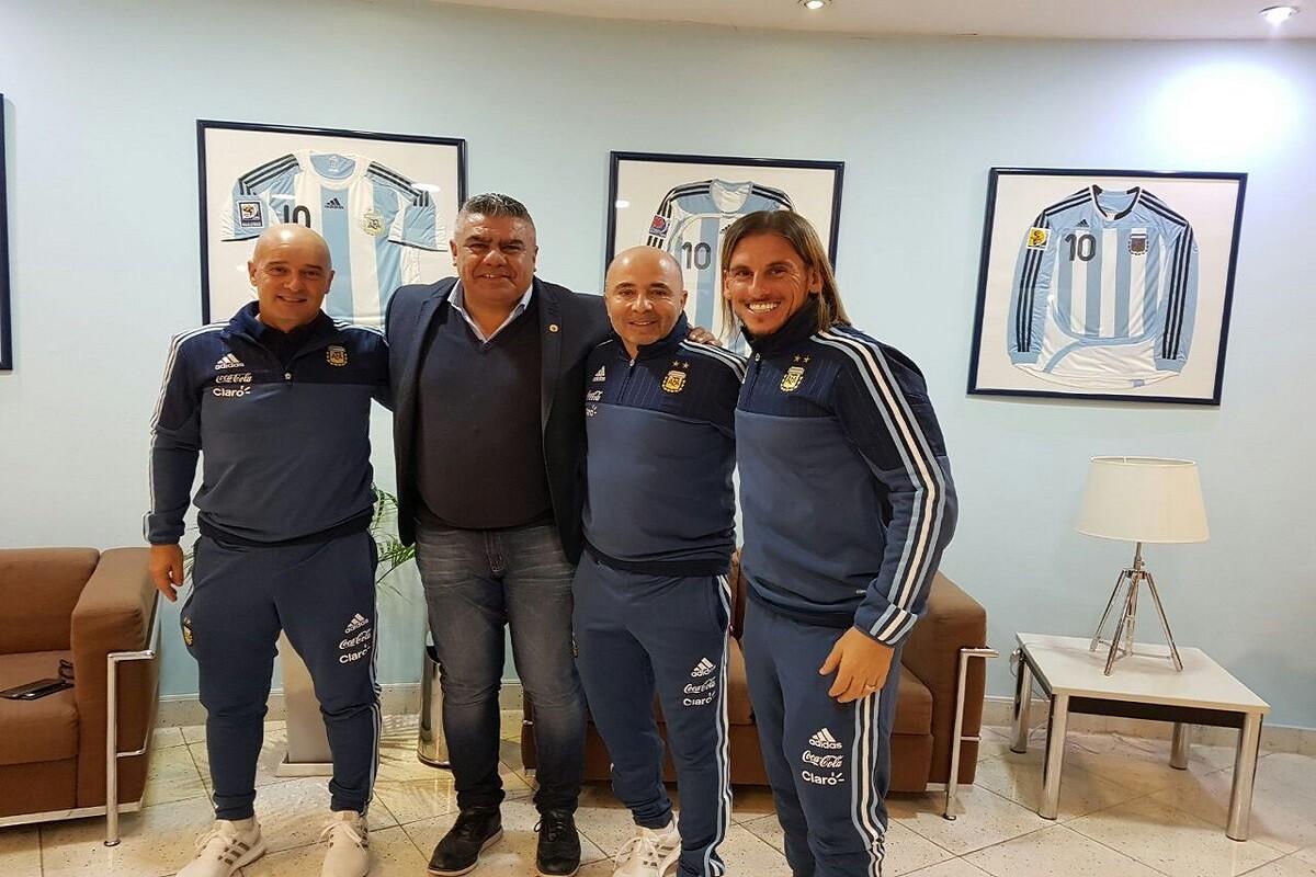 Sampaoli presentado en Argentina