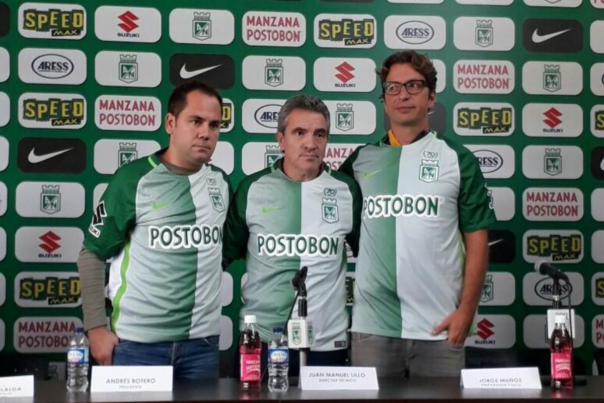 Lillo, presentado con Atlético Nacional