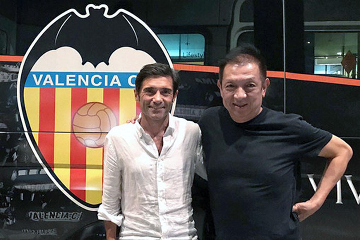 Marcelino García Toral y Peter Lim Valencia CF