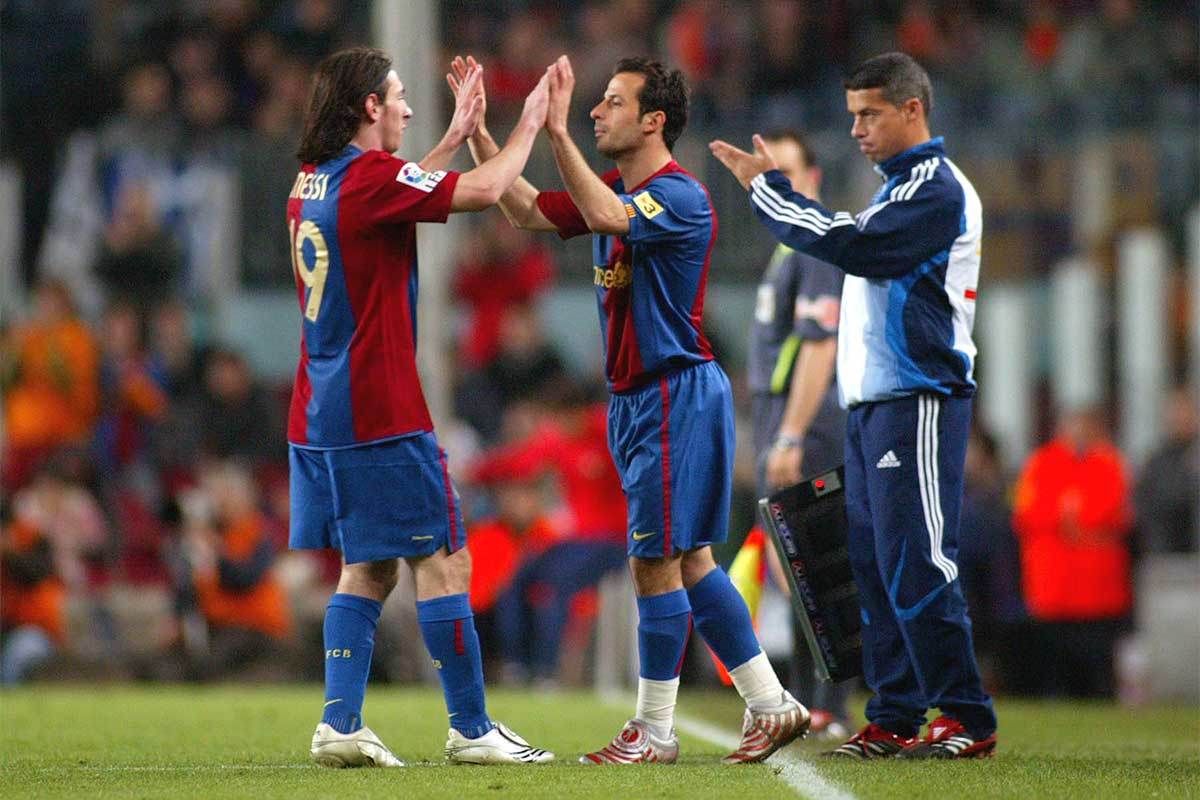 Ludovic Giuly, Leo Messi