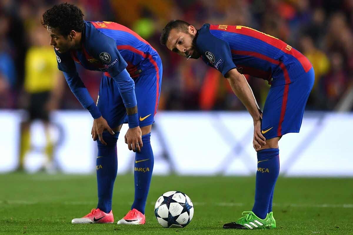 Neymar y Jordi Alba