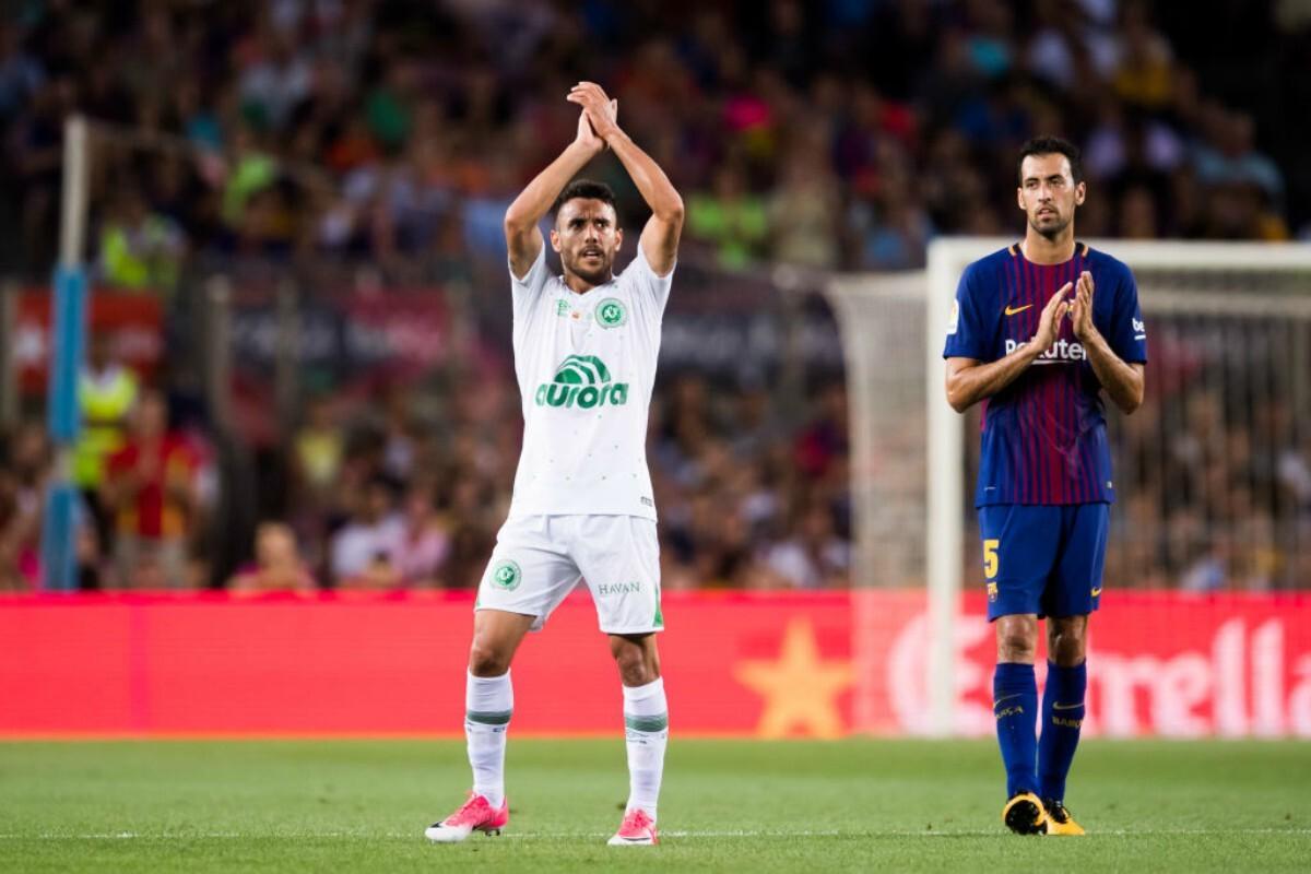 Alan Ruschel regresó al Chapcoense en el Camp Nou