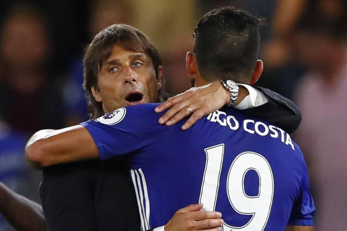 Antonio y Diego Costa, del Chelsea